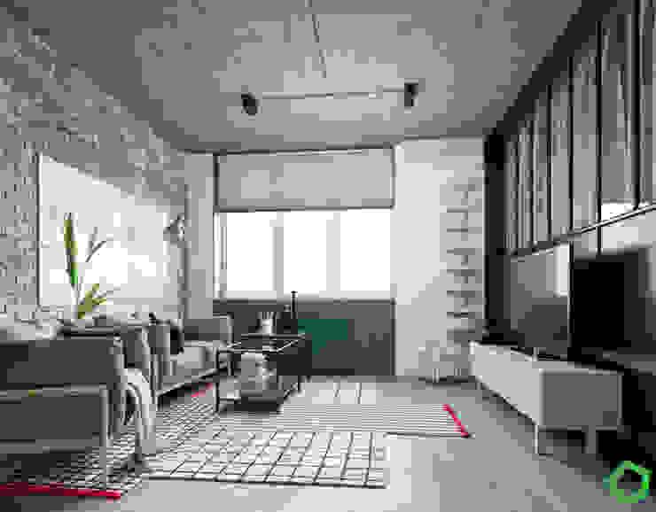 Living room by Polygon arch&des Minimalist