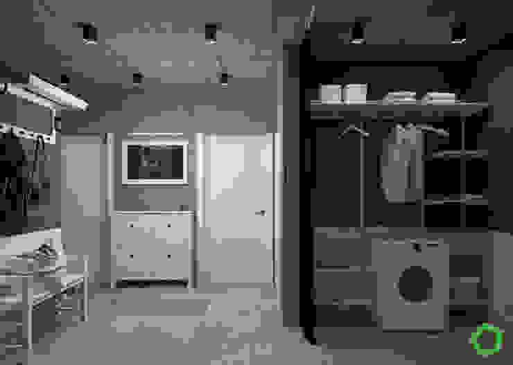 Corridor Minimalist corridor, hallway & stairs by Polygon arch&des Minimalist