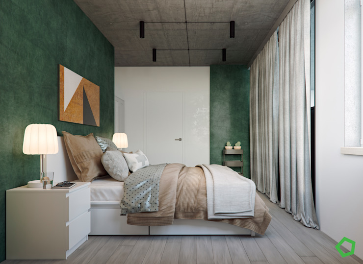 Bedroom Minimalist bedroom by Polygon arch&des Minimalist