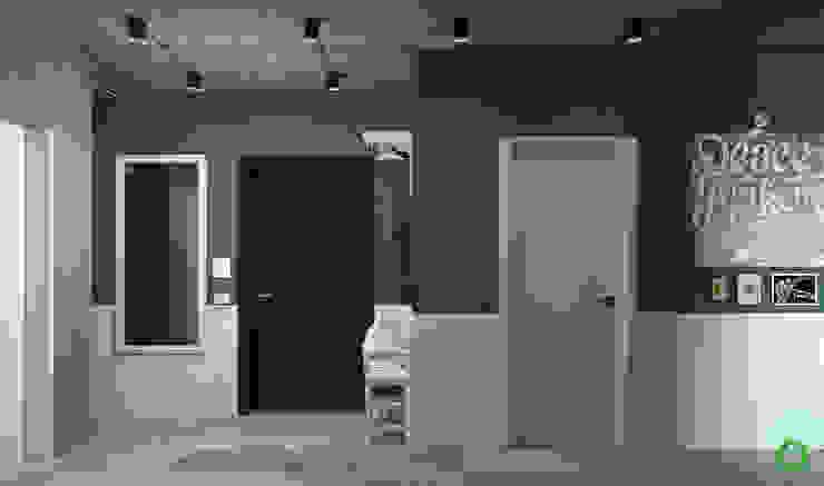 Polygon arch&des Couloir, entrée, escaliers minimalistes Vert