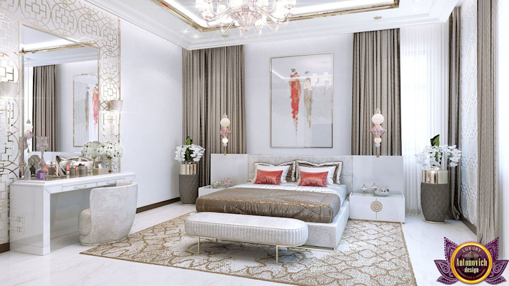 Modern bedroom design of Katrina Antonovich Modern style bedroom by Luxury Antonovich Design Modern