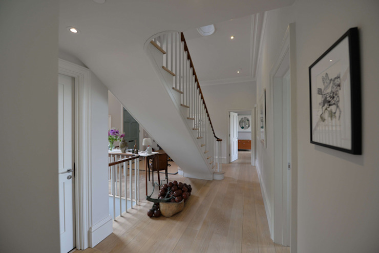 House refurbishment and extensions Modern corridor, hallway & stairs by BBM Sustainable Design Limited Modern