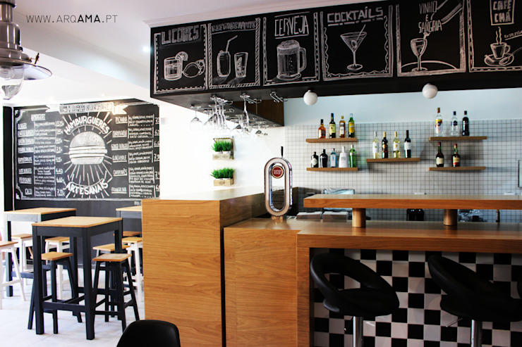 Industrial style gastronomy by ARQAMA - Arquitetura e Design Lda Industrial