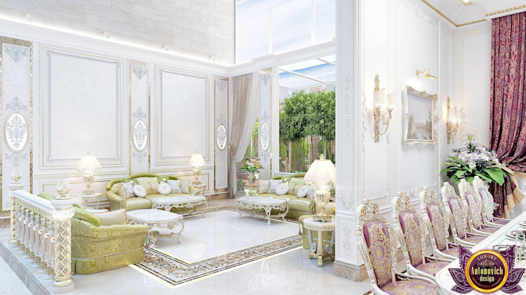 Eastern hospitality interiors Katrina Antonovich Asian style dining room by Luxury Antonovich Design Asian