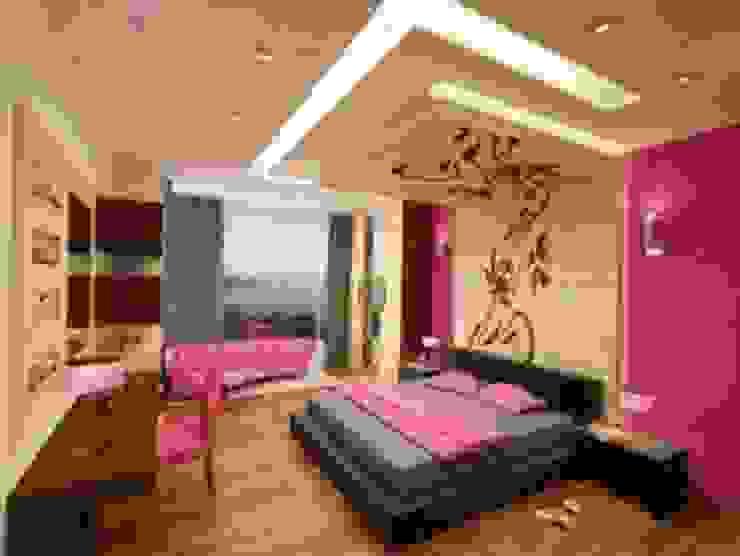 painting in noida Asian style bedroom by origin interiors noida Asian