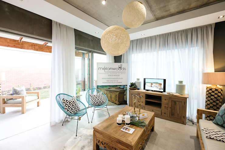 The Sheds Waterfall Estate, Midrand: modern  by Melonwoods Indonesian Furniture, Modern Wood Wood effect