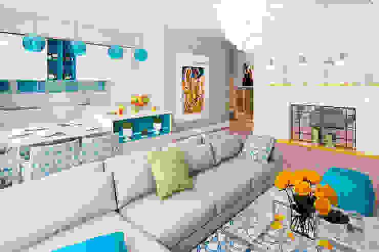 Scandinavian style living room by homify Scandinavian
