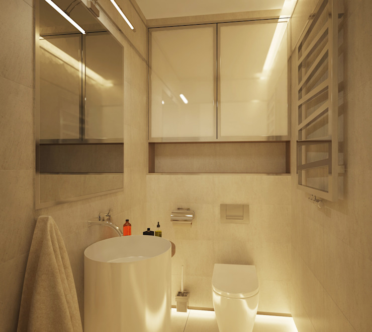 Polovets design studio Minimalist style bathroom
