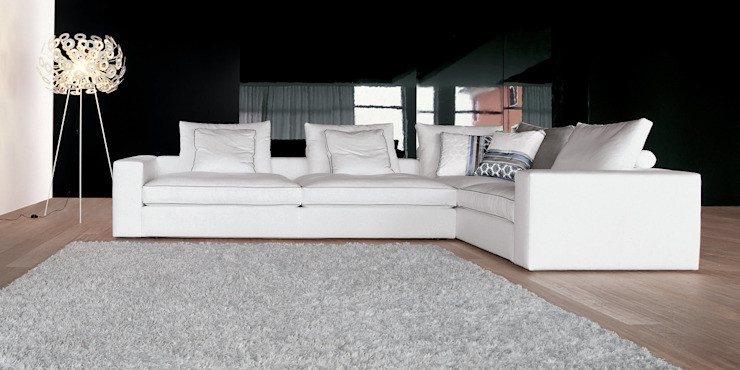 VITTORIA SOFA IQ Furniture Living roomSofas & armchairs Leather White