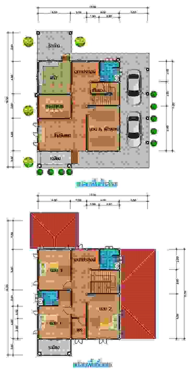 แบบบ้าน 2 ชั้นเดียว โดย บ้านอีสาน