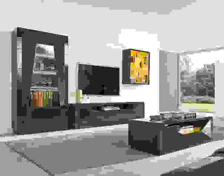 Salas de estar modernas Contemporary living rooms www.intense-mobiliario.com TNAMAID http://intense-mobiliario.com/pt/salas-de-estar/10465-sala-de-estar-tnamaid-i.html por Intense mobiliário e interiores; Moderno