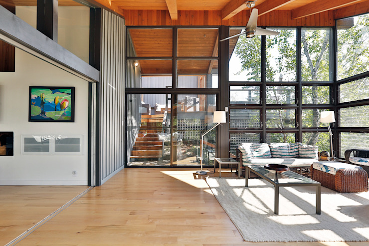 West Hawk Lake Interior Modern conservatory by Unit 7 Architecture Modern