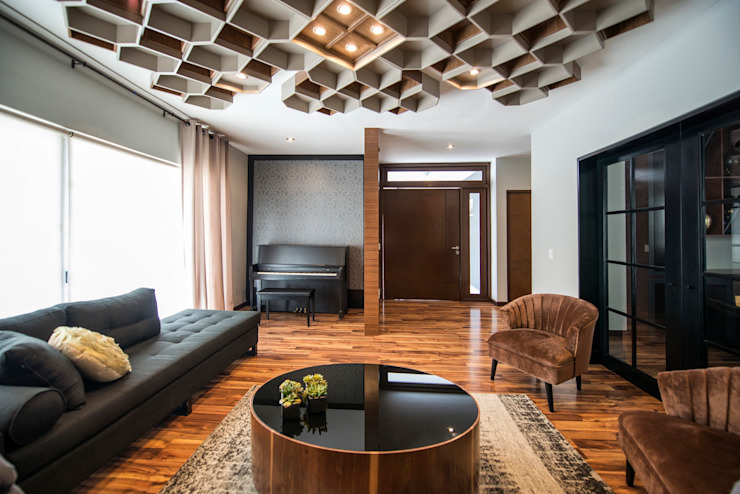 Living room by ESTUDIO TANGUMA
