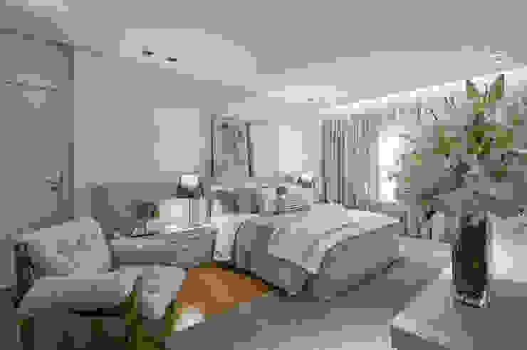 Dormitorios de estilo  por Alessandra Contigli Arquitetura e Interiores,