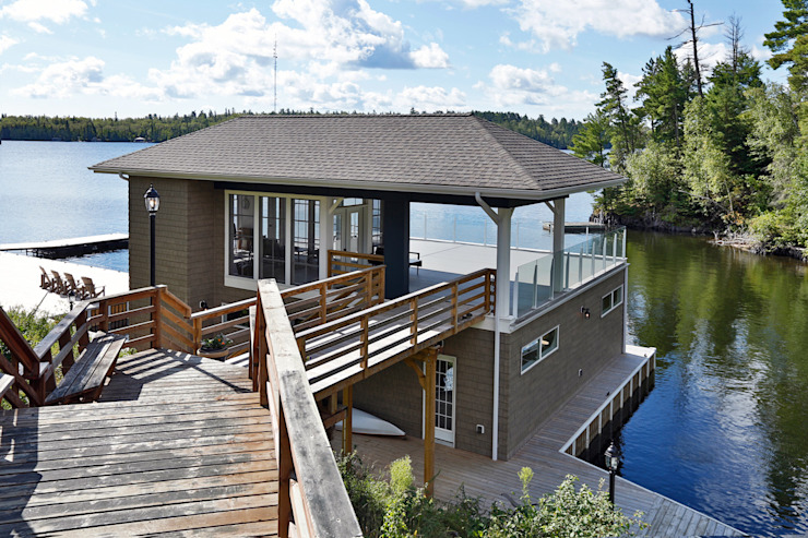 Lake of the woods Boat house Modern houses by Unit 7 Architecture Modern