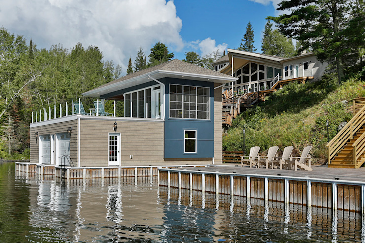 Lake of the woods Boat house:  Houses by Unit 7 Architecture,