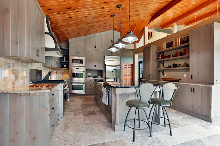 Lake of the woods cottage interiors Modern kitchen by Unit 7 Architecture Modern