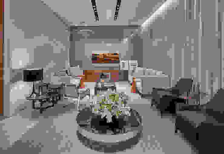 غرفة الميديا تنفيذ Alessandra Contigli Arquitetura e Interiores, حداثي