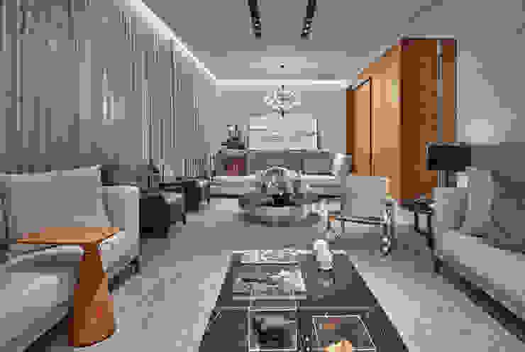غرفة المعيشة تنفيذ Alessandra Contigli Arquitetura e Interiores, حداثي