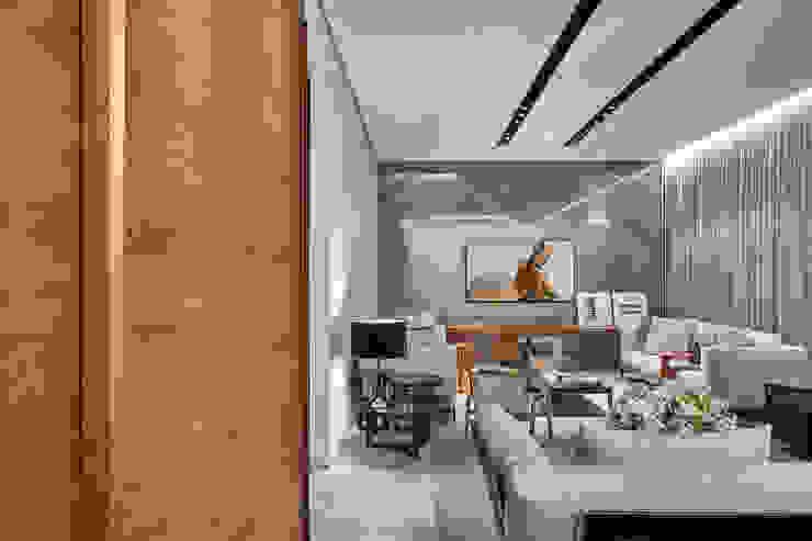 Living/Home Cinema Salas multimídia modernas por Alessandra Contigli Arquitetura e Interiores Moderno