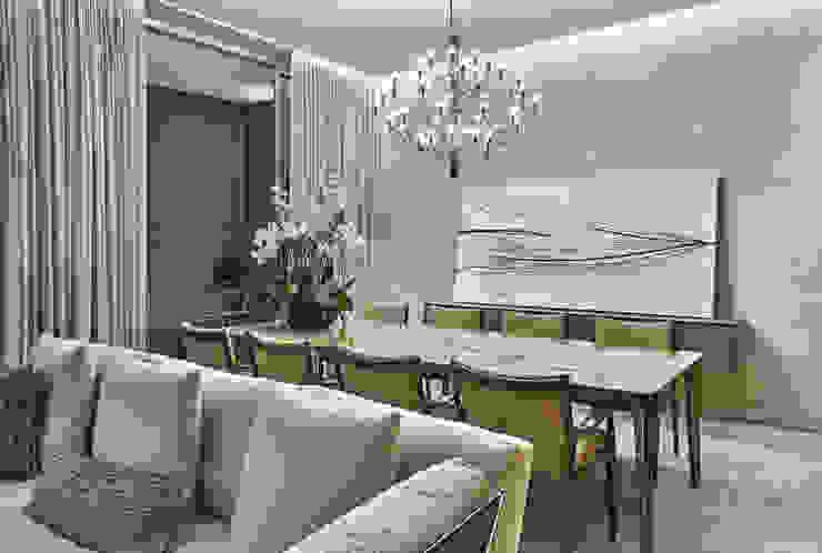غرفة السفرة تنفيذ Alessandra Contigli Arquitetura e Interiores, حداثي