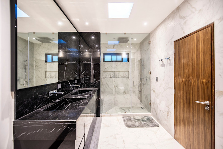 Modern bathroom by ESTUDIO TANGUMA Modern ٹائلیں