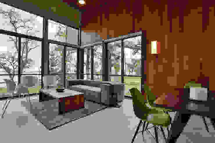 Winnipeg beach weekend home Modern living room by Unit 7 Architecture Modern