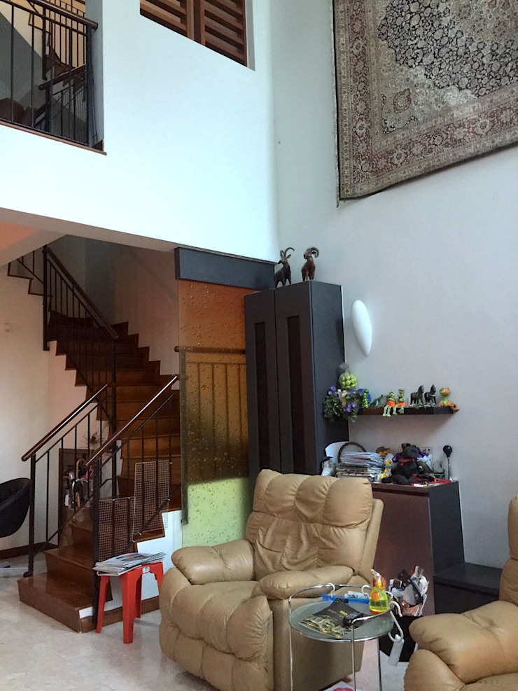 old stairway separation by Singapore Carpentry Pte Ltd
