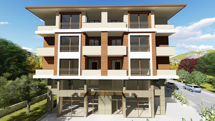 Modern Houses by Kesit Mimarlık Modern Wood-Plastic Composite