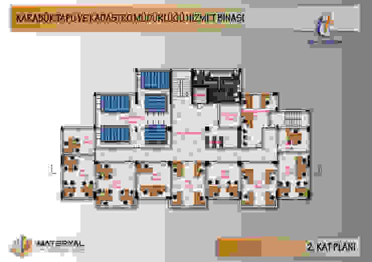 Karabük Tapu Kadastro Binası Dış Cephe Tasarımı Kesit Mimarlık Modern Ahşap-Plastik Kompozit