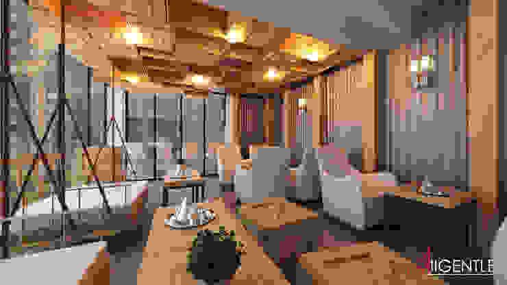 ํZen cafe โดย Allgentle Studios โมเดิร์น ไม้ Wood effect