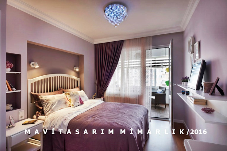 MAVİTASARIM MİMARLIK / ŞİŞLİ PROJESİ / yatak odası homify İç Dekorasyon