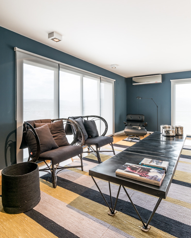 Interiores B.AP Living room Wood Blue