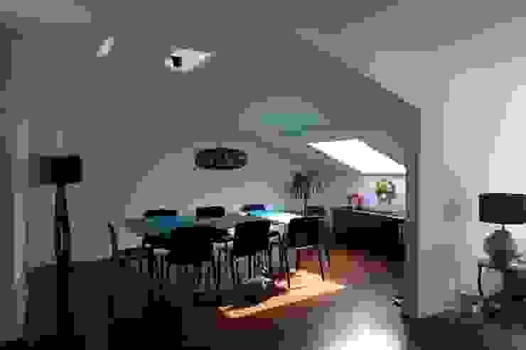 Apartment refurbishment – Campo Pequeno , Lisbon Salas de jantar modernas por QFProjectbuilding, Unipessoal Lda Moderno