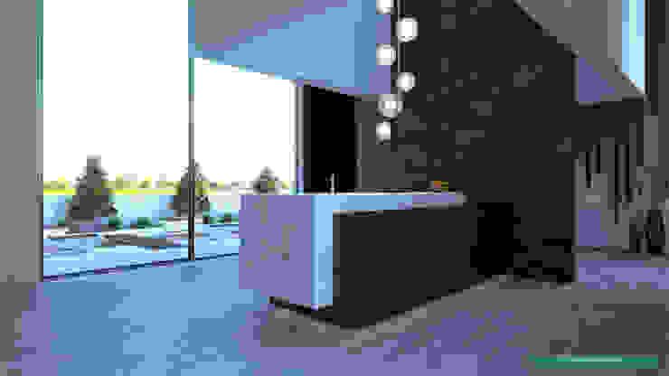 Ambiente Residencial - Cozinhas por Distone Moderno Pedra