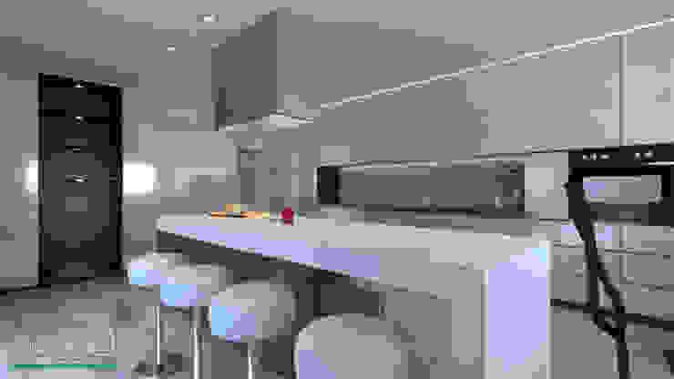 Ambiente Residencial – Cozinhas por Distone Moderno Pedra