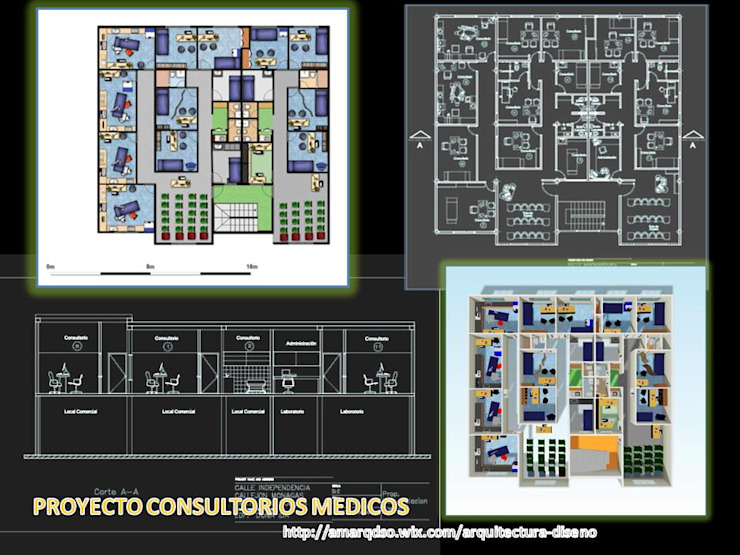 PROYECTO CONSULTORIOS MEDICOS de A.M. ARQUITECTURA +DISEÑO