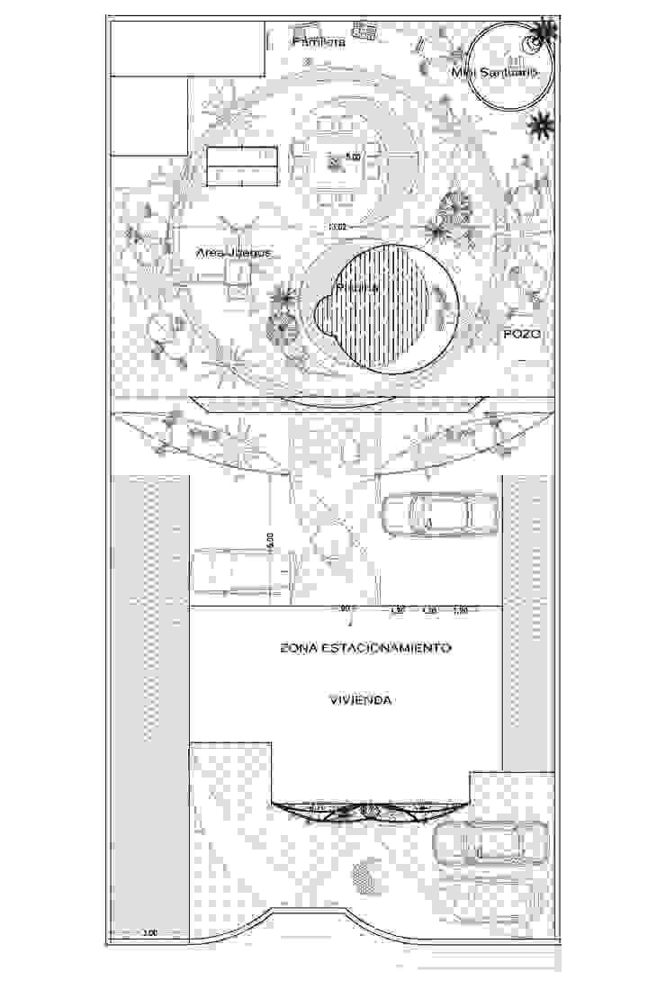 PROYECTO PAISAJISMO YIN - YANG A.M. ARQUITECTURA +DISEÑO