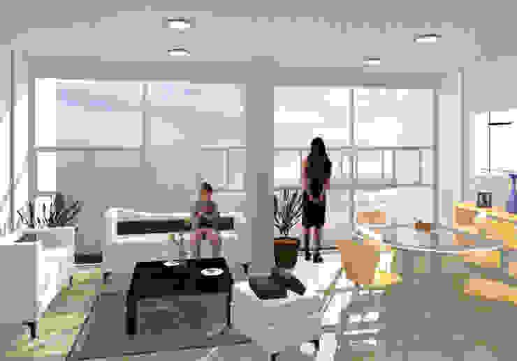 Torres del Rio - MAC Arquitectos Consultores Salones modernos de MAC Arquitectos Consultores Moderno