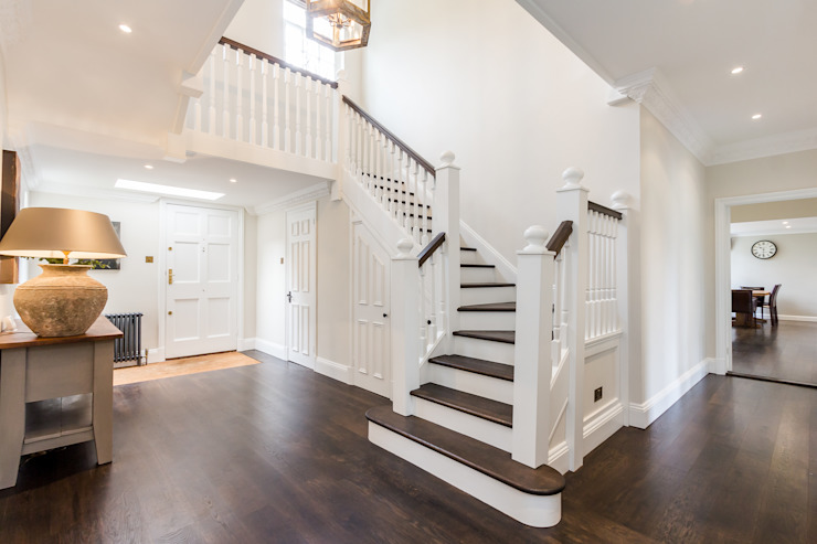 Beautiful Gallery Stairway Entrance Classic style corridor, hallway and stairs by homify Classic