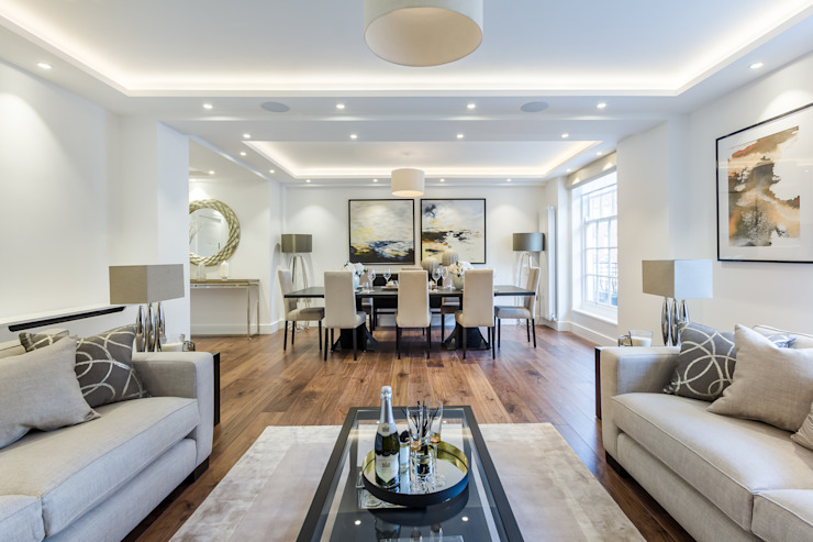 Luxury London Mayfair Aparment homify Living room White