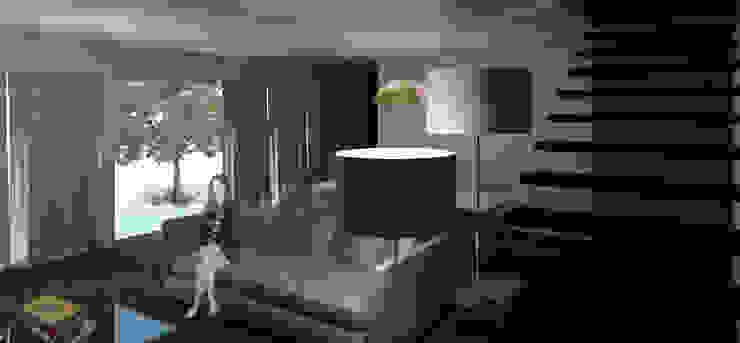 Casa Guilhovai Salas de estar modernas por OPUS - MATER Moderno