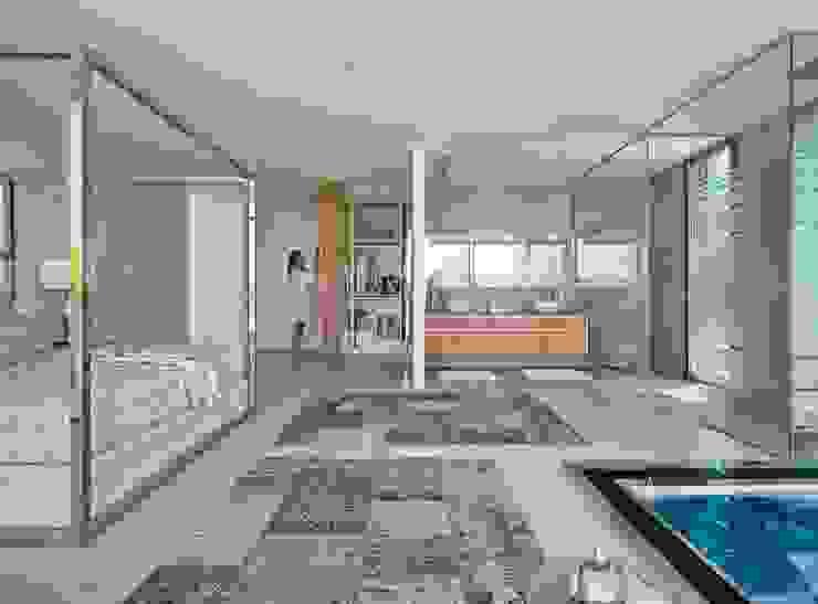 Mediterranean style bedroom by GESTEC. Arquitectura & Ingeniería Mediterranean