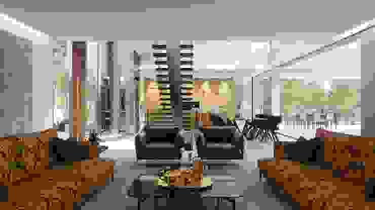 Olivo. Las Colinas. Marjal GESTEC. Arquitectura & Ingeniería Salones de estilo mediterráneo