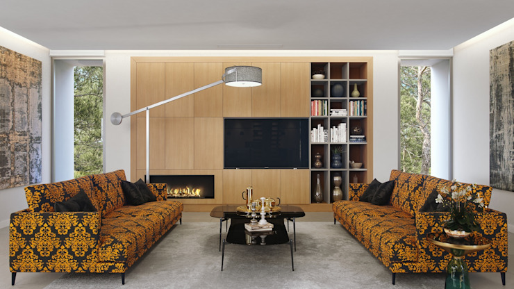 Living room by GESTEC. Arquitectura & Ingeniería,