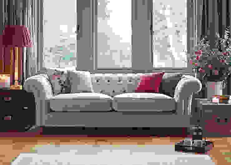Grosvenor Sofa de SofaSofa Clásico Textil Ámbar/Dorado