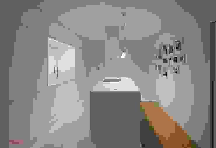 Vista geral cozinha Cozinhas modernas por B.loft Moderno