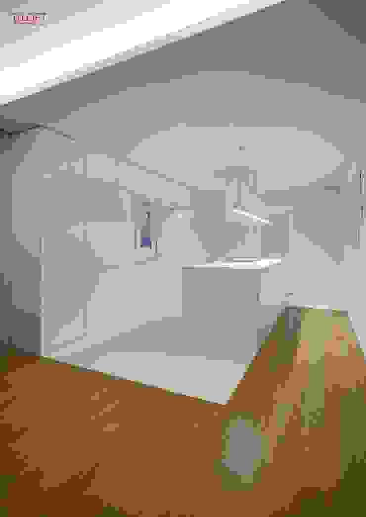 Vista geral zona copa Cozinhas modernas por B.loft Moderno