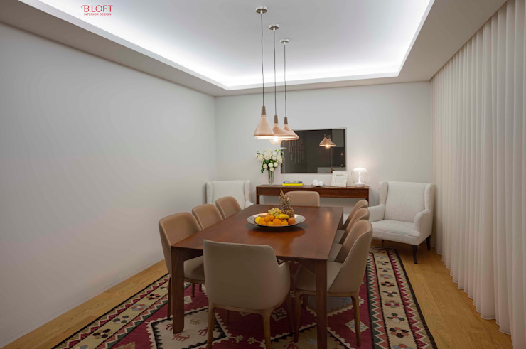Vista geral sala de jantar Salas de jantar modernas por B.loft Moderno
