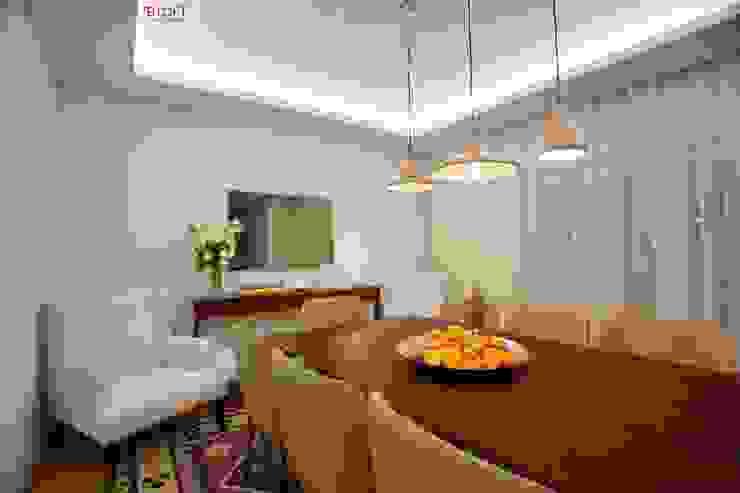 Pormenor decoração sala de jantar Salas de jantar modernas por B.loft Moderno